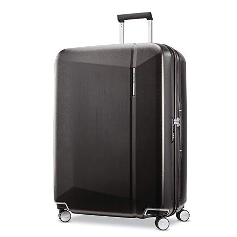 Samsonite Etude Hardside Checked Luggage with Double Spinner Wheels, Black/Bronze