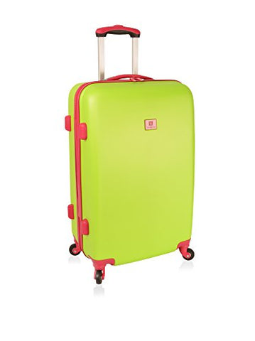 "Anne Klein Palm Springs 24"" Hardside Spinner Luggage, Lime Hibiscus"