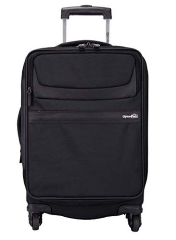 "Genius Pack G4 22"" Carry On Spinner Luggage - Smart, Organized, Lightweight Suitcase (G4 - Black)"