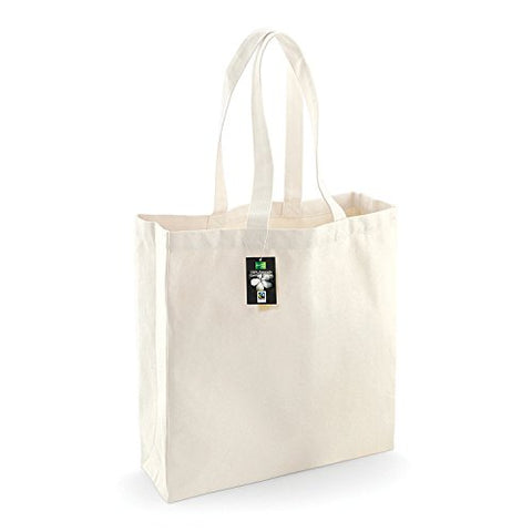 Westford Mill Fairtrade Cotton Classic Shopper - Natural