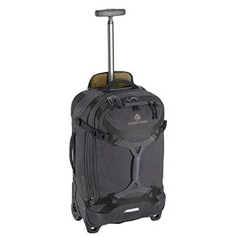 Eagle Creek Gear Warrior International Carry-On Rolling Duffel Bag, Jet Black