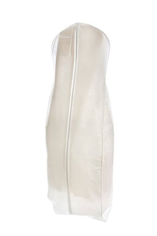 Bags For Less White Wedding Gown Travel & Storage Garment Bag Soft, Breathable, Durable, Rip &