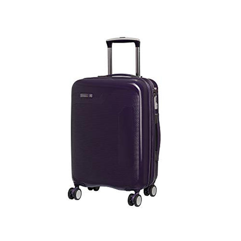 "IT Luggage 20.9"" Signature 8-Wheel Hardside Expandable Carry-on, Black Cordial - Purple"