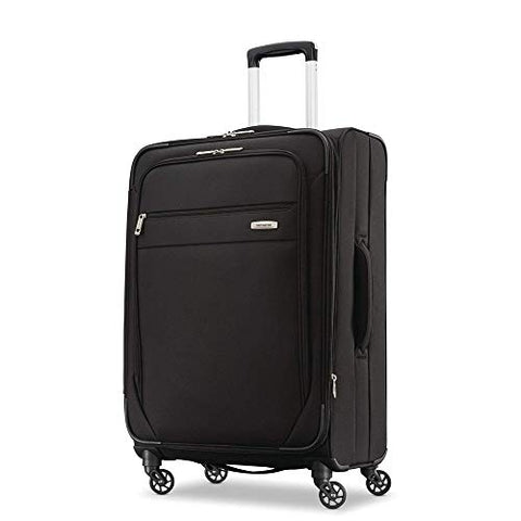 Samsonite Advena Expandable Softside Checked Luggage with Spinner Wheels, 25 Inch, Black