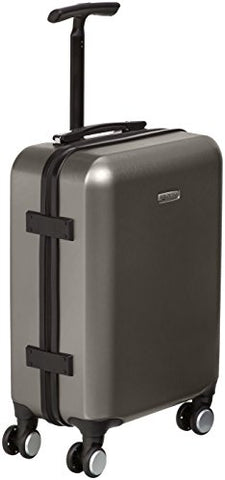 AmazonBasics Metallic Hardshell Carry-On Spinner Luggage Suitcase with TSA Lock - 20 Inch, Graphite