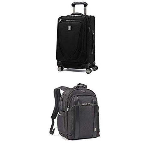 "Travelpro Luggage Crew 11 21"" Carry-On + Laptop Backpack (Black)"