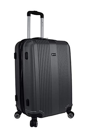 "Mancini Santa Barbara 24"" Lightweight Spinner Luggage in Black"