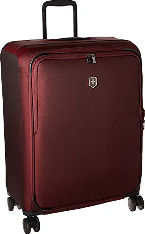 Victorinox Connex Large Softside Checked Spinner Luggage (Burgundy)