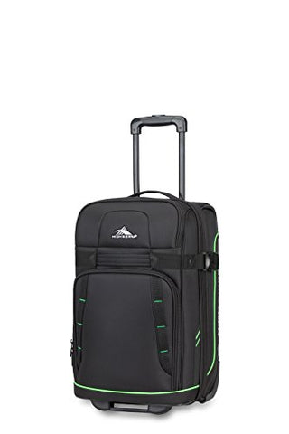 High Sierra Evanston Carry On Upright Luggage, Black/Lime Green