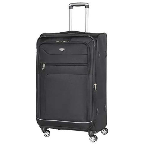 Flight Knight Lightweight 8 Wheel 840D Soft Case Suitcases Maximum Size For Emirates - Large Black FK0034_L