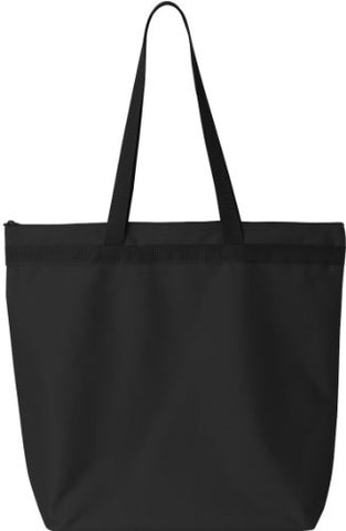 Zuzify Large Tote With Zipper Closure. Fn0105 Os Black