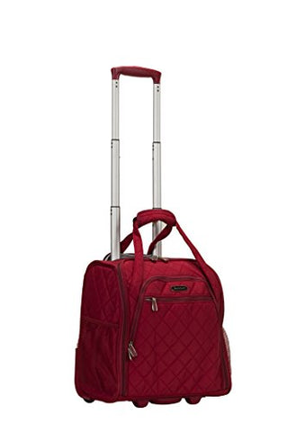 Rockland Wheeled Underseat Carry-On, Red, One Size