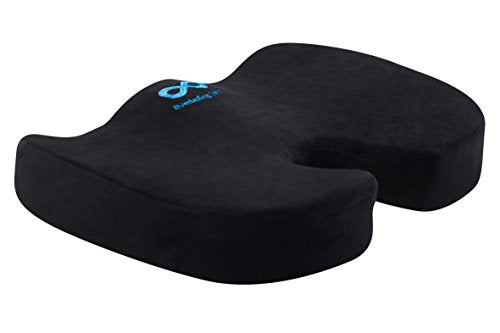 Everlasting Comfort 100% Pure Memory Foam Luxury Seat Cushion, Orthopedic Design To Relieve Back,