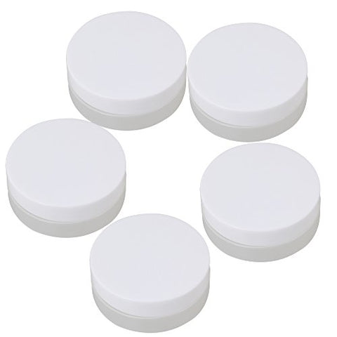 BQLZR 30g Empty White and Transparent Round Containers Cosmetic Jar Craft Travel Creams Plastic