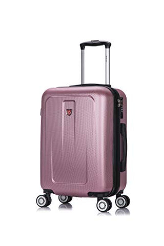 DUKAP Luggage Crypto Lightweight Hardside Spinner 20'' inches Carry-On - Rose Gold