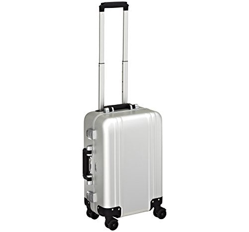 Zero Halliburton Classic Aluminum Carry-on 4 Wheel Spinner Travel Case ZRC19-SI (SILVER)