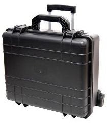 T.Z. Case International T.z 7-Bottle Wheeled Wine Case, Molded Polypropylene, Black