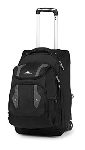 High Sierra Adventure Access Carry On Wheeled Backpack, Black/Charcoal