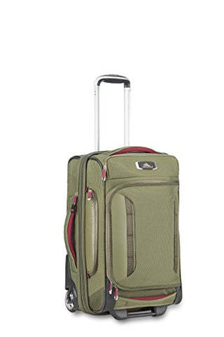 High Sierra At8 Wheeled Duffel Upright, Olive/Cranberry, 22""