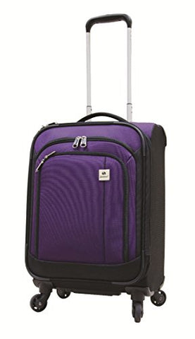 Samboro Feather Lite Lightweight Luggage 19 Inches Exp. Carry-On Spinner Trolley - Purple Color
