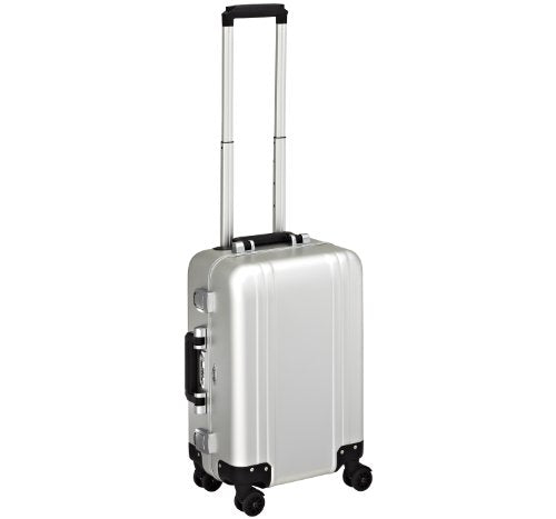 Zero Halliburton Classic Aluminum Carry On 4 Wheel Spinner Travel Case, Silver, One Size
