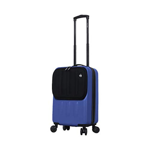 Mia Toro Furbo Smart Italy Hardside Spinner Luggage 20 Inch Carry-on, Blue