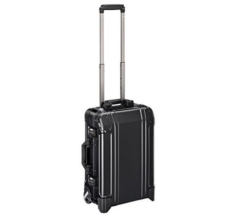 Zero Halliburton Geo Aluminum 3.0 - Carry-on 2-Wheel Travel Case, Black
