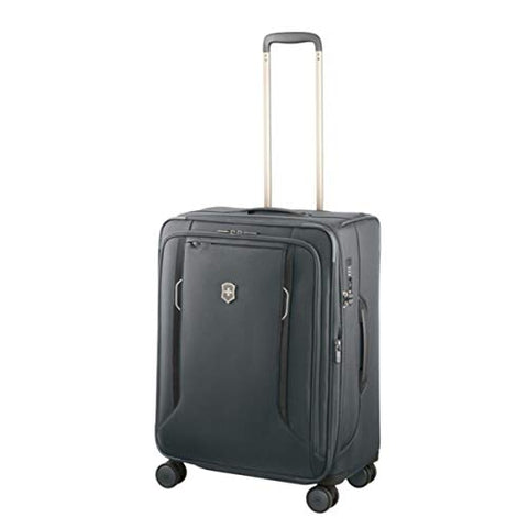 Victorinox Werks Traveler 6.0 Medium Softside Spinner Suitcase, 24-Inch, Grey