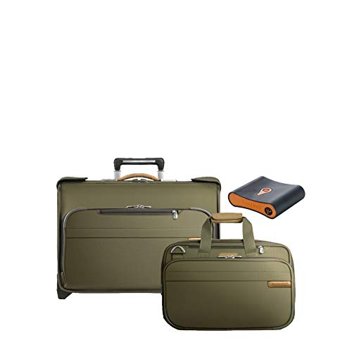 Briggs & Riley Baseline 3-Pc Set- C/O Wheeled Garment Bag, Exp Cabin Bag, Portmantos Tracking