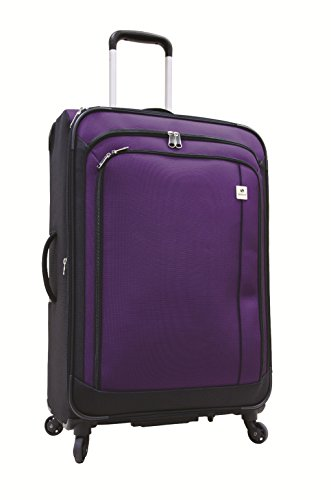 Samboro Feather Lite Lightweight Luggage 23 Inches Exp. Spinner Trolley - Purple Color