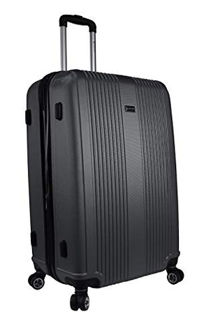 "Mancini Santa Barbara 28"" Lightweight Spinner Luggage in Black"