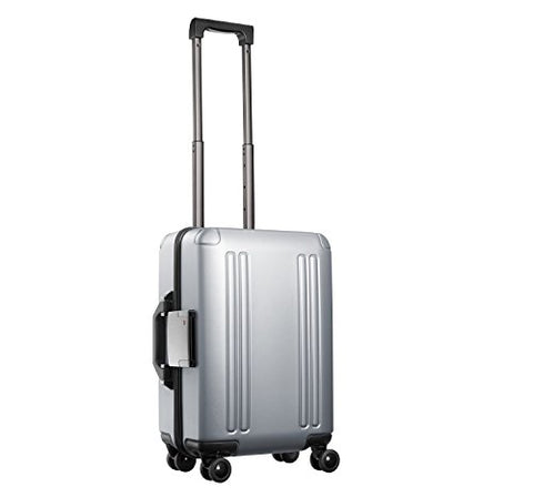 "Zero Halliburton Zro-20"" Int'l Carry-on 4-Wheel Spinner Travel Case, Silver"