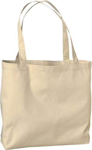 Zuzify Large Organic Cotton Twill Tote Bag. Gd1094 Os Oyster