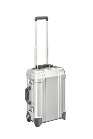 Zero Halliburton Geo Aluminum 3.0-Carry-on 2-Wheel Travel Case, Silver