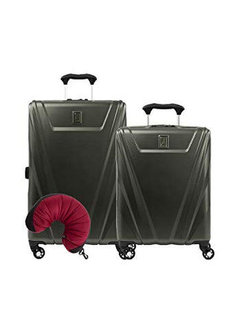 Travelpro Maxlite 5 Hardside 3-Pc Set: Int'L C/O And Exp. 25-Inch Spinner With Travel Pillow (Slate
