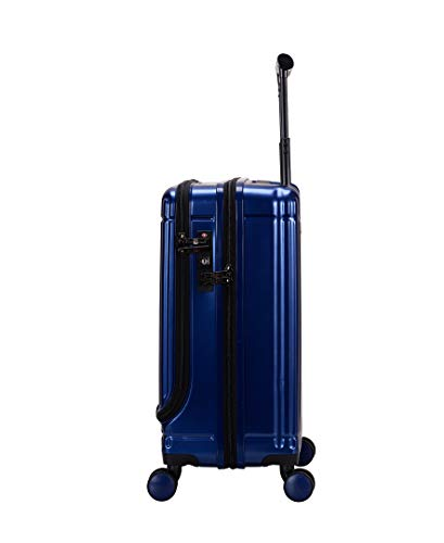 "Rockland Tokyo 19"" Polycarbonate Spinner Laptop Carryon, Navy"