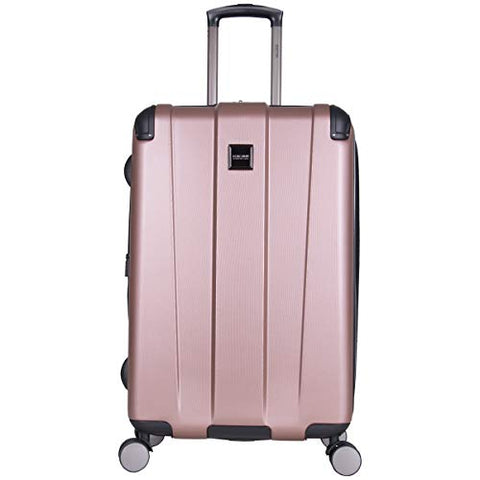 "Kenneth Cole Reaction Continuum 24"" Hardside 8-Wheel Expandable Upright Checked Spinner Luggage, Rose Gold"