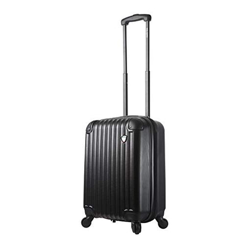 Mia Toro Italy Rotolo Hardside Spinner Carry-on, Black
