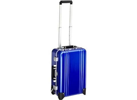 Zero Halliburton Classic Polycarbonate Carry On 2 Wheel Travel Case, Blue, One Size