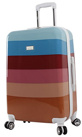 "Nicole Miller Rainbow 24"" Hard-Sided Luggage Spinner (24 in, Rainbow Spice)"