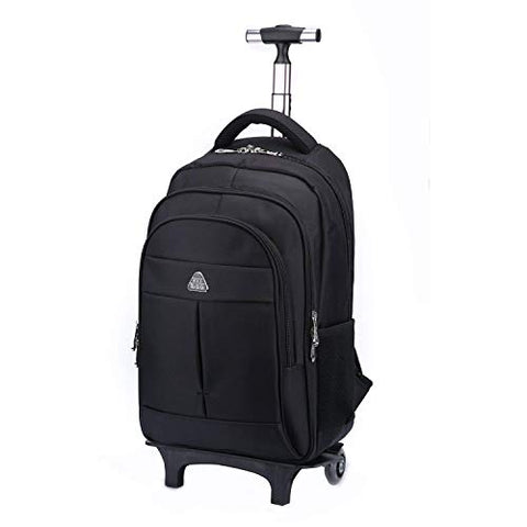 Rolling Backpack School Business Wheeled Backpack Carry-On Luggage Wheeled Case Travel Duffel Bag