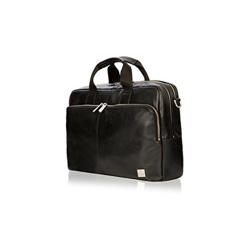 "Knomo Luggage Men'S Knomo Brompton Classic Amesbury Full Leather Double Zip Brief 15"" Briefcase,"