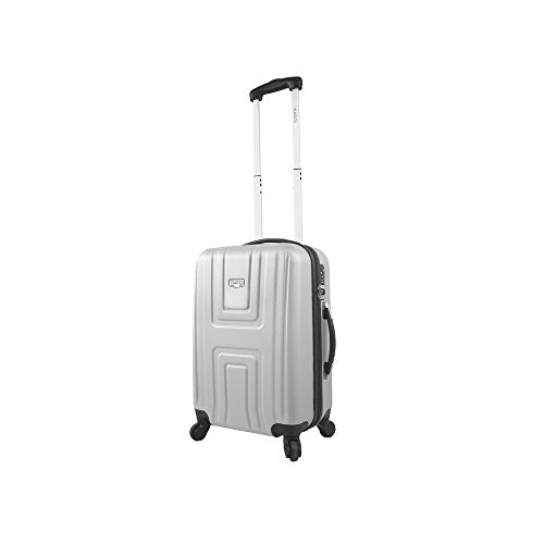 Viaggi Turin Hardside Spinner Carry-On Sleeve, Silver, One Size