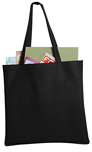 Port & Company Luggage-And-Bags Polypropylene Tote Osfa Black