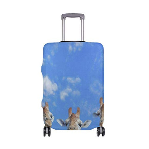 Luggage Cover Suitcase Heads Of Giraffes Luggage Cover Travel Case Bag Protector for Kid Girls