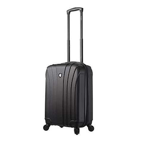 Mia Toro Italy Nicosia Hardside Spinner Carry-on, Black