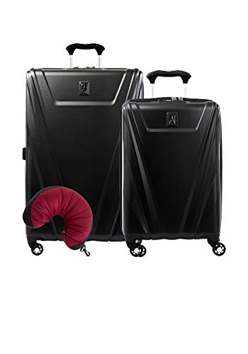 Travelpro Maxlite 5 Hardside 3-PC Set: Carry-On and 29-Inch Spinner with Travel Pillow (Black)