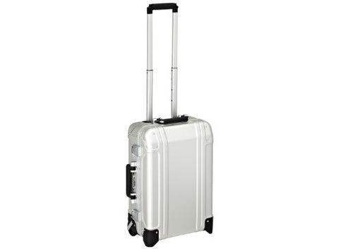 Zero Halliburton Geo Aluminum Carry On 2 Wheel Travel Case, Silver, One Size