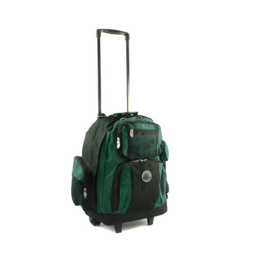 Transworld Roll-Away Deluxe Rolling Backpack - Green