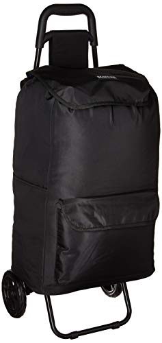 Kenneth Cole Reaction Polyester 2-Wheel Urban Shopping Cart with Removable Shopping Bag, Black